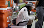 Lynch Sits During 'Anthem' At Raiders Preseason Game