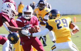 NORTH CAROLINA A&T HANGS ON TO BEAT SOUTH CAROLINA STATE IN MEAC SHOWDOWN
